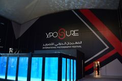The Dive Tank at Xposure International Photography Expo, Sharjah, 2017 Stock Photography
