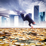 Dive into the wealth Stock Photo