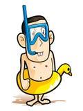 Diver. Cartoon scuba diver – vector illustration Stock Images