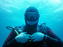 Diver. Scuba Diving picture about underwater testing stock photos