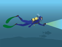 Diver. The figure shows a diver Royalty Free Stock Image