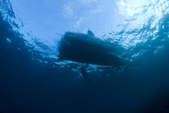 Free Diver And Boat Royalty Free Stock Image - 17728346