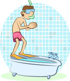 Diver Bath Stock Photography