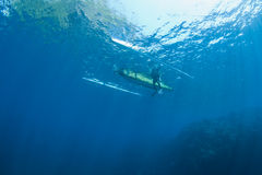 Diver and boat Stock Image