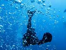 Diver and bubbles Royalty Free Stock Photography