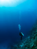 Diver in the deep Stock Image