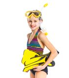 Diver girl Royalty Free Stock Images
