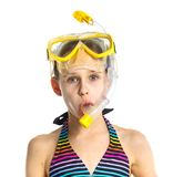 Diver girl Stock Photography
