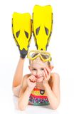 Diver girl Stock Photo