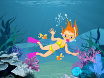 Diver Girl Stock Photos