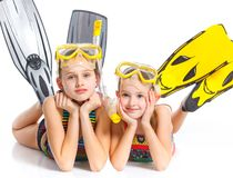 Diver girls Stock Photography