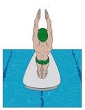Diver royalty free illustration