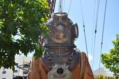 Diver Marionette Closeup: Journey of the Giants: Perth, Australia. PERTH,WESTERN AUSTRALIA,AUSTRALIA-FEBRUARY 14,2015:Giant marionette Diver Closeup in the city Stock Photography