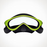 Diver mask 3D. Mask for diving. green color. vector format Stock Photo
