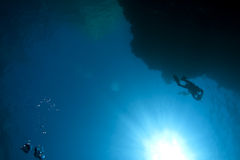 Diver and ocean Royalty Free Stock Photography