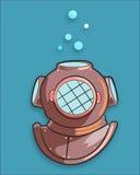 Diver old helmet Royalty Free Stock Image