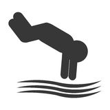 diver pictogram icon Stock Images