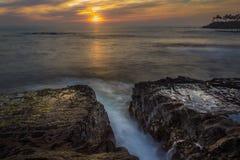 Diver`s Cove Sunset stock photos