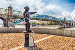 Diver S Monument On Pushkin Embankment In Central Moscow, Russia Royalty Free Stock Image