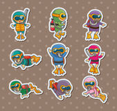 Diver stickers Stock Photos