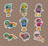 Diver stickers Stock Photos