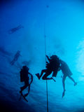 Diver Team. Before going up there Royalty Free Stock Images
