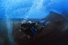 Diver at Thistlegorm Royalty Free Stock Photo