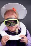 Diver in toilet Royalty Free Stock Photos