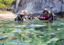 Diver Training Stock Image