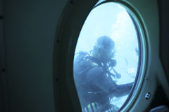 Diver under water Royalty Free Stock Photography