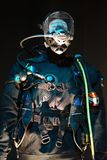 Diver in underwater gear royalty free stock image