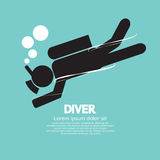 Diver Vector Illustration Stock Images