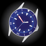 Diver watch case and dial eps10. Blue diver watch case and dial eps10 Royalty Free Illustration