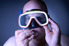 Diver: wet III. Diver Stock Photo