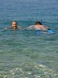 Diver and woman Stock Photos