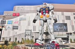 DiverCity Tokyo Plaza at Odaiba in Tokyo, Japan. Tokyo, Japan - December 11, 2012: Full-size of RG 1/1 RX-78-2 Mobile suit Gundam Ver. GFT in front of DiverCity Stock Photography
