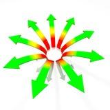 Divergent arrows concept Royalty Free Stock Photos
