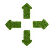 Divergent arrows symbol from grass Stock Image