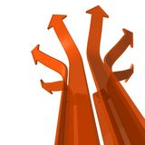 Diverging arrows Stock Image