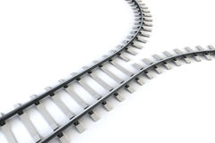 Diverging railway Stock Images