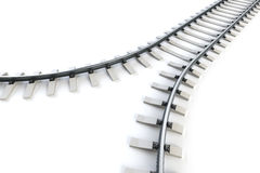 Diverging railway Royalty Free Stock Photography