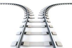 Diverging railway Stock Image