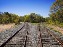 Diverging Track choice concept Royalty Free Stock Photography