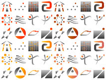 Divers éléments abstraits de conception de graphisme de logo de vecteur Photographie stock libre de droits