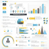 Divers éléments d'infographics d'affaires Images stock
