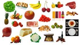 Divers éléments de nourriture et de boissons Image libre de droits