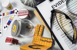 Divers équipement légal d'essais en laboratoire photos stock