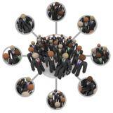 Divers Aantal arbeidskrachten van Verbonden Professionele Mensen in Kostuums vector illustratie