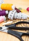 Divers accessoires toujours de couture de durée Photographie stock libre de droits