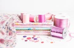 Divers approvisionnements de couture Photo stock